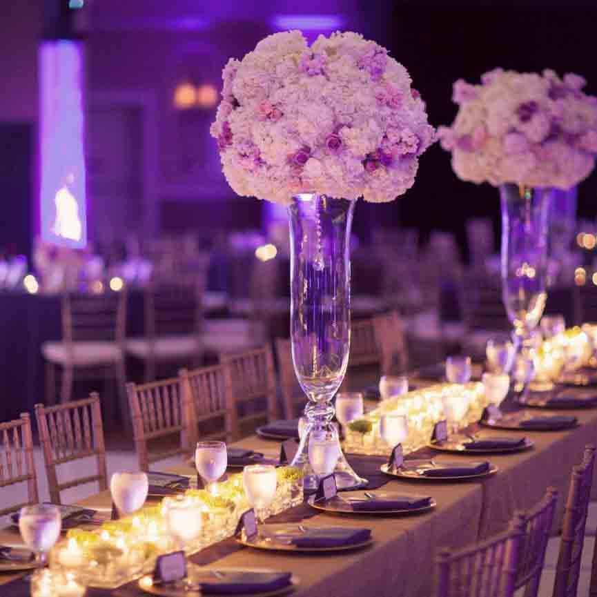 Asztal dekor esküvőre
